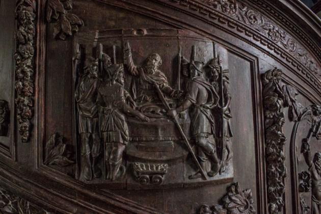 17C Pulpit at Plouneour-Menez