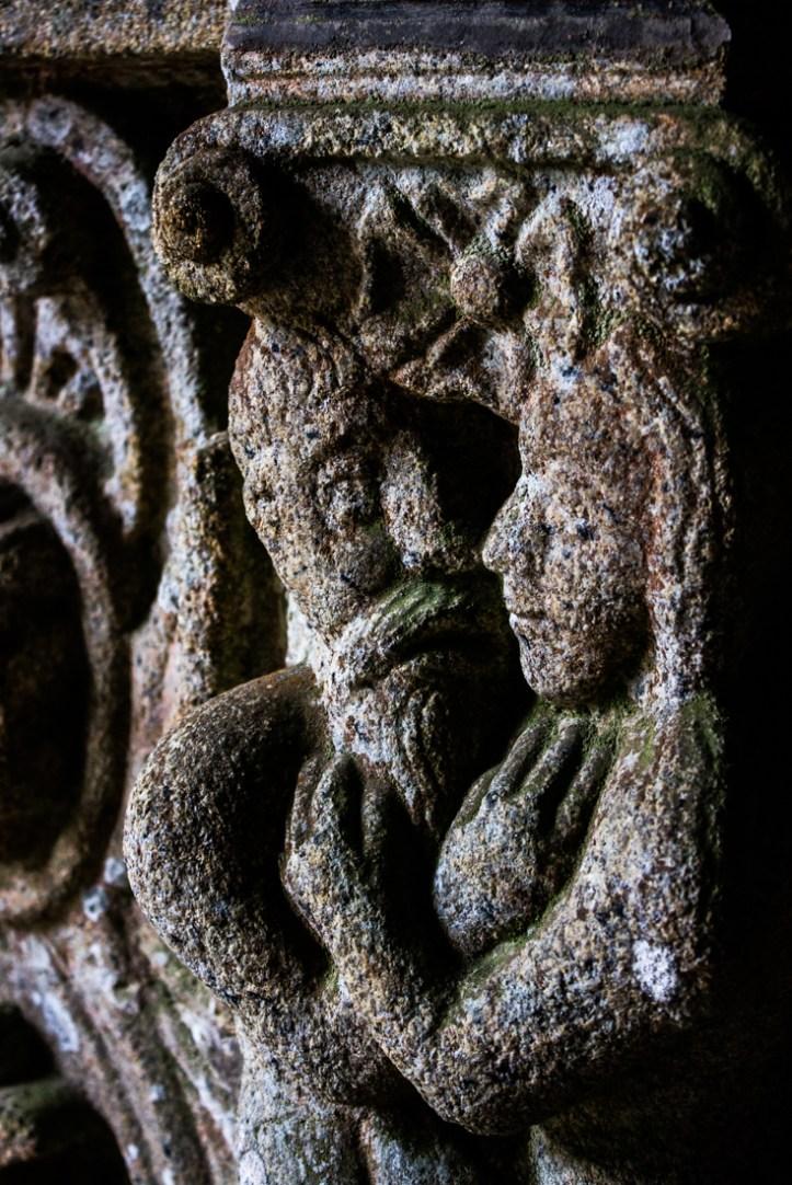 Adam & Eve in the South Porch, Bodilis Church