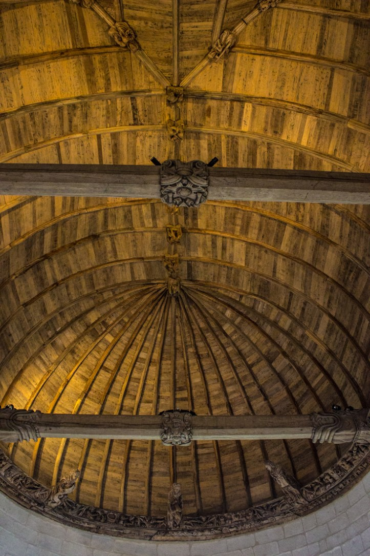 The ceiling of The Chapel of the Chateau of Kerjean