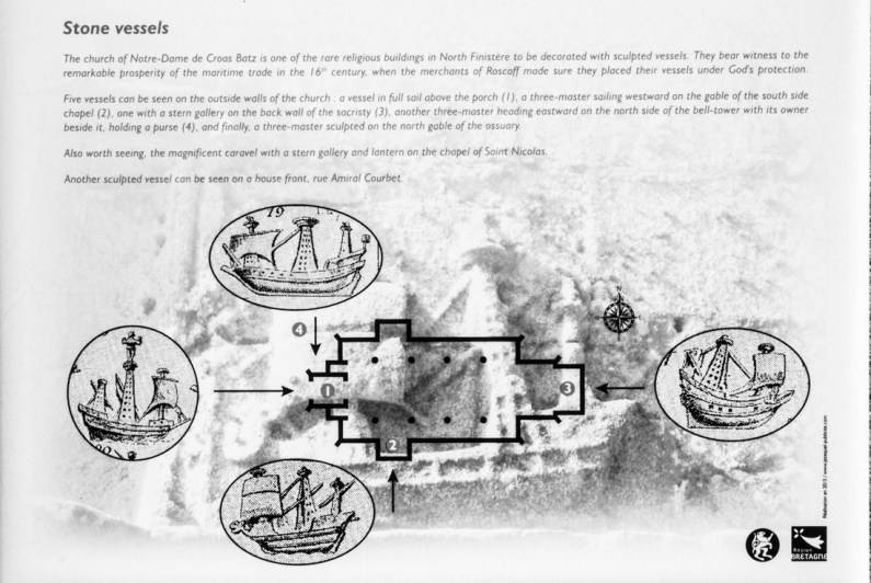 Plan of Croas Batz with the placement of the ship carvings