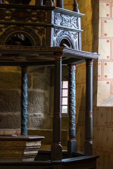 The Baptistry in the Church of St Suliau, Sizun