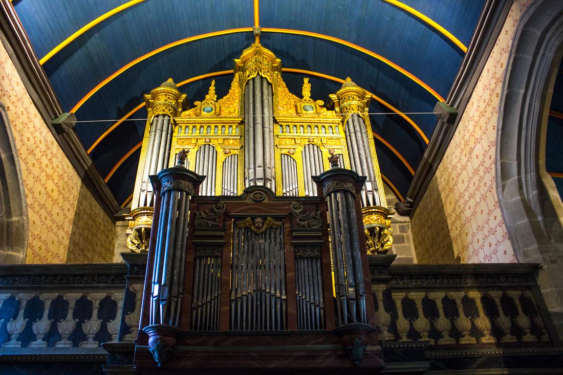 The organ in the Church of St Suliau, Sizun