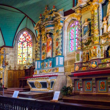 Inside the Church of St Guimiliau