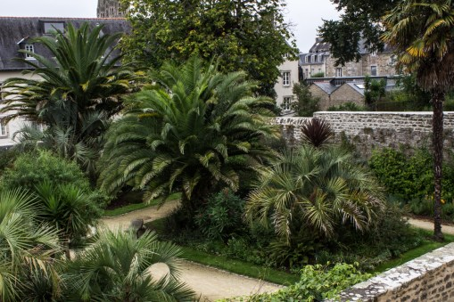 The old Abbey gardens, Quimper