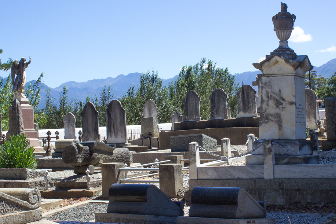 The walled graveyard of the Old Church in Tulbagh