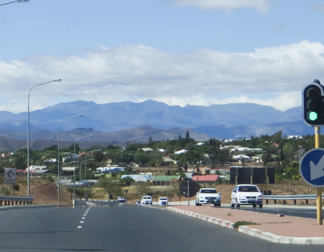 Arriving in Worcester, Cape Province