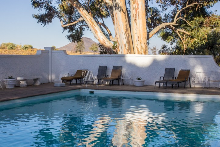 The swimming pool at Matjiesfontein