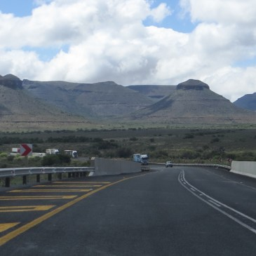 Driving from Beaufort West to Graaff Reinet