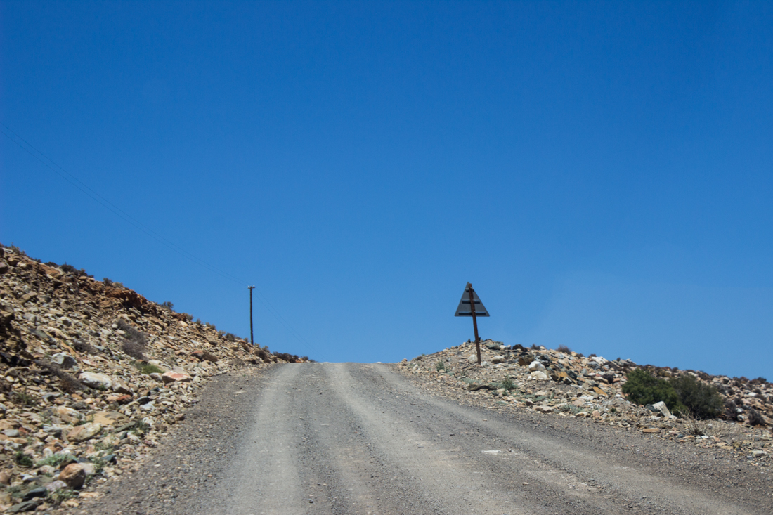 The dirt road in the Witteberg Valley