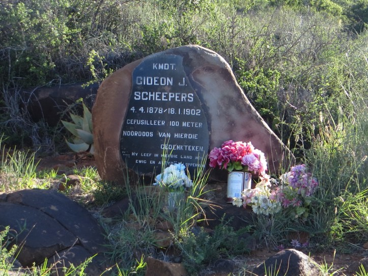 Gideon Scheepers memorial outside Graaff Reinet