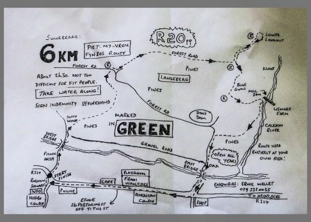 Map for Walk, Suurbraak