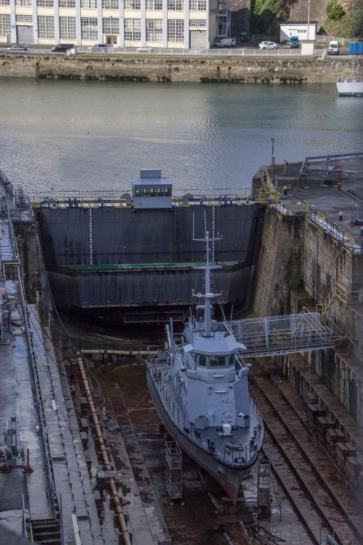 Dry dock on the River Penfeld, Brest
