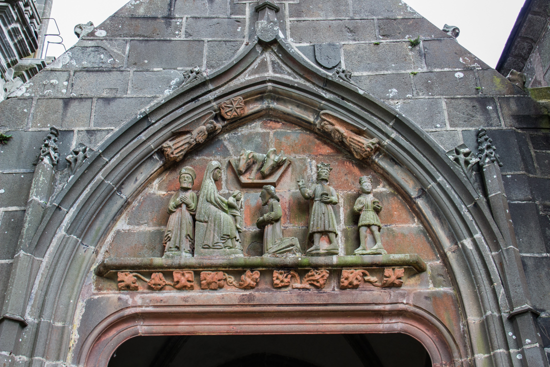 The mid-15C Tympanum over the South Porch doorway