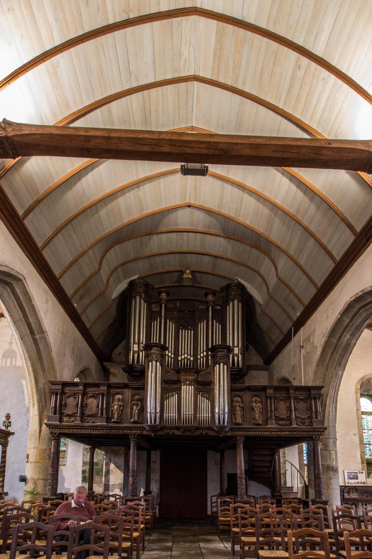 The organ in the Church at Lampaul-Guimiliau
