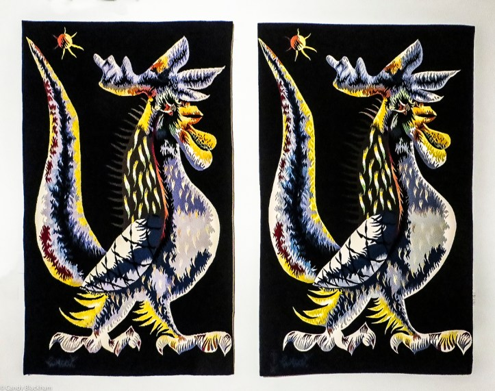 Portalegre tapestry and Jean Lurcat original side by side