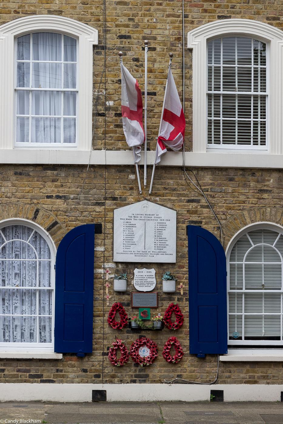 WWI Memorial in Cyprus Street
