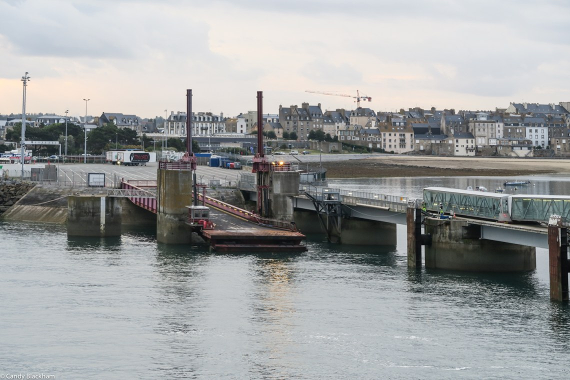 Getting ready to dock in St Malo