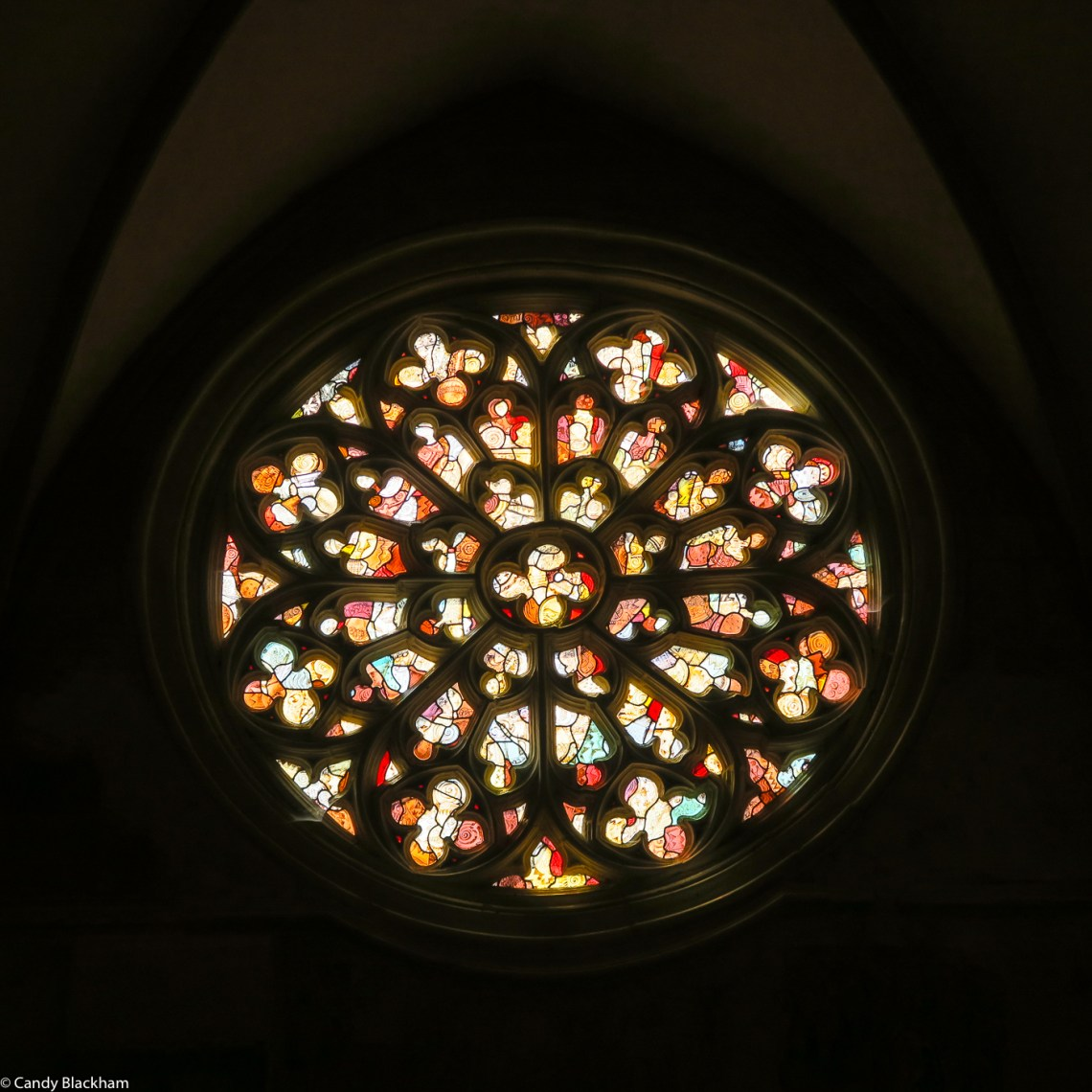 The Rose Window in Notre Dame of Kernascleden