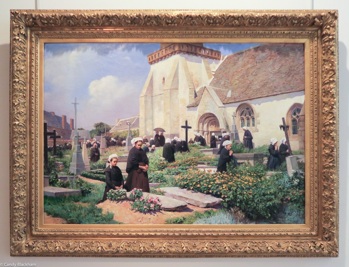 Armand-Eugene Bach, After the Mass, 1893, at the Church of Perros-Guirec