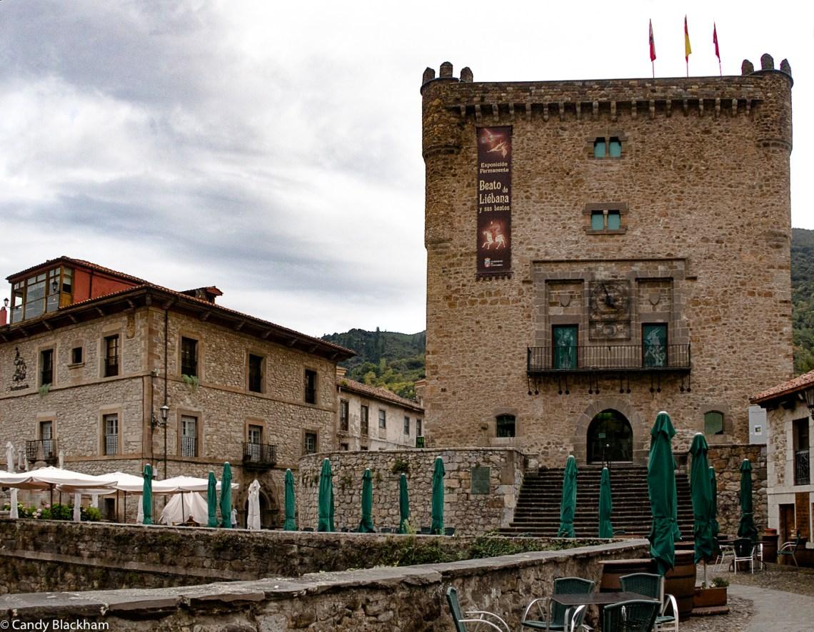 Mediaeval tower in Potes in Picos de Europa