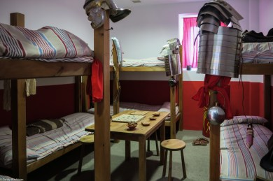 The living quarters of Roman soldiers