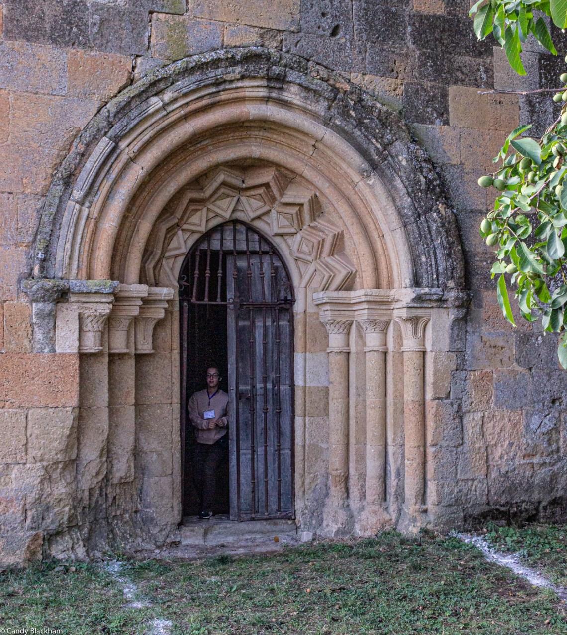 The original Romanesque North door of Santa Maria de Sandoval