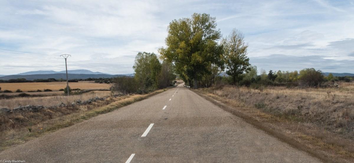 Leaving Astorga on the LE 142, the route of the Camino de Santiago