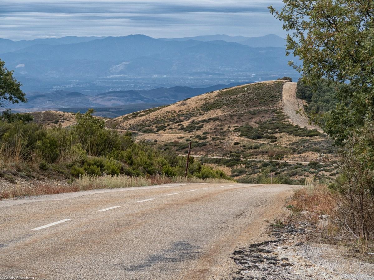 Going downhill to El Acebo de San Miguel on the Camino de Santiago