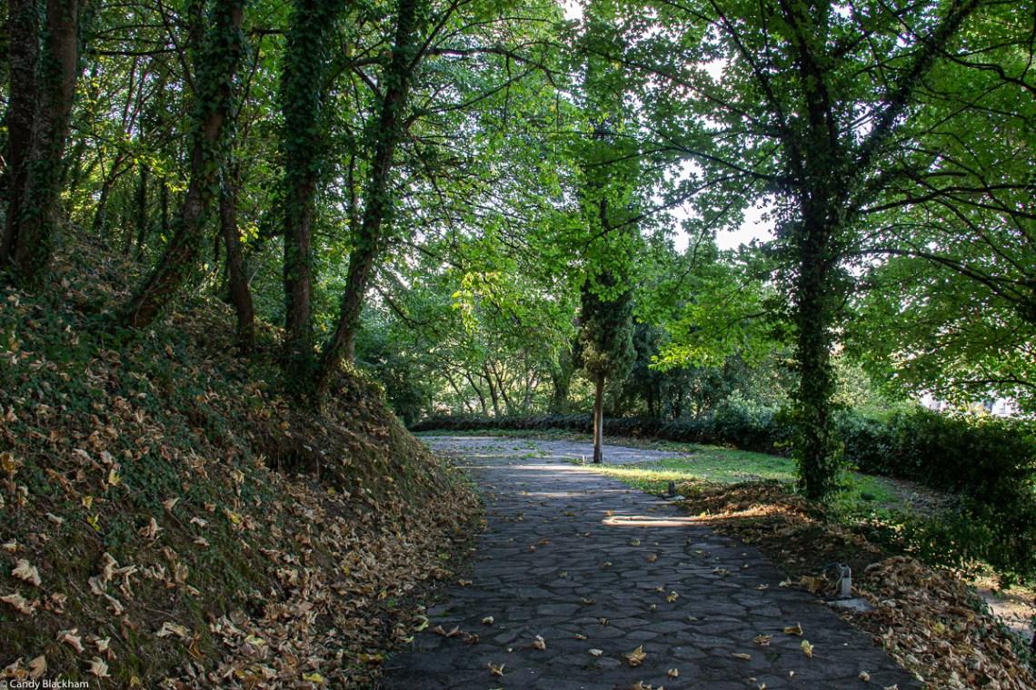 Hillside parks in Monforte de Lemos