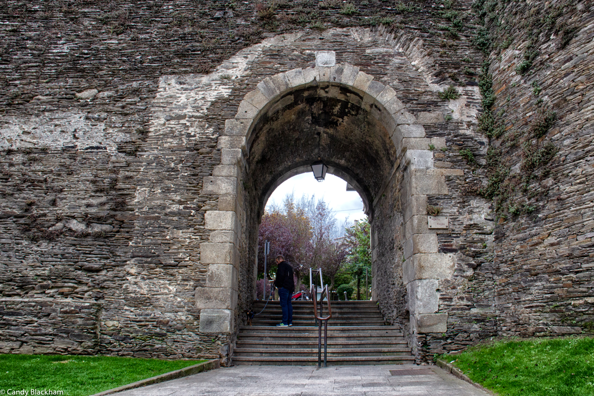 Roman walls in Lugo and the Puerta Falsa