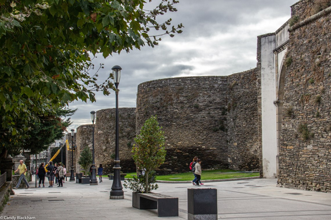 The Roman Walls outside the Campo Castelo Gate in Lugo