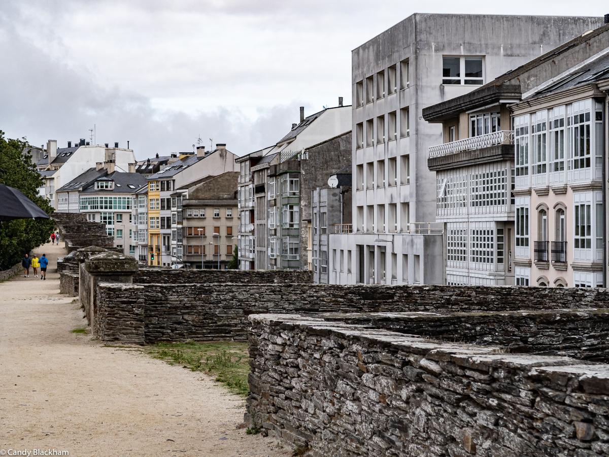 Walkway on top of the Roman Walls, Lugo