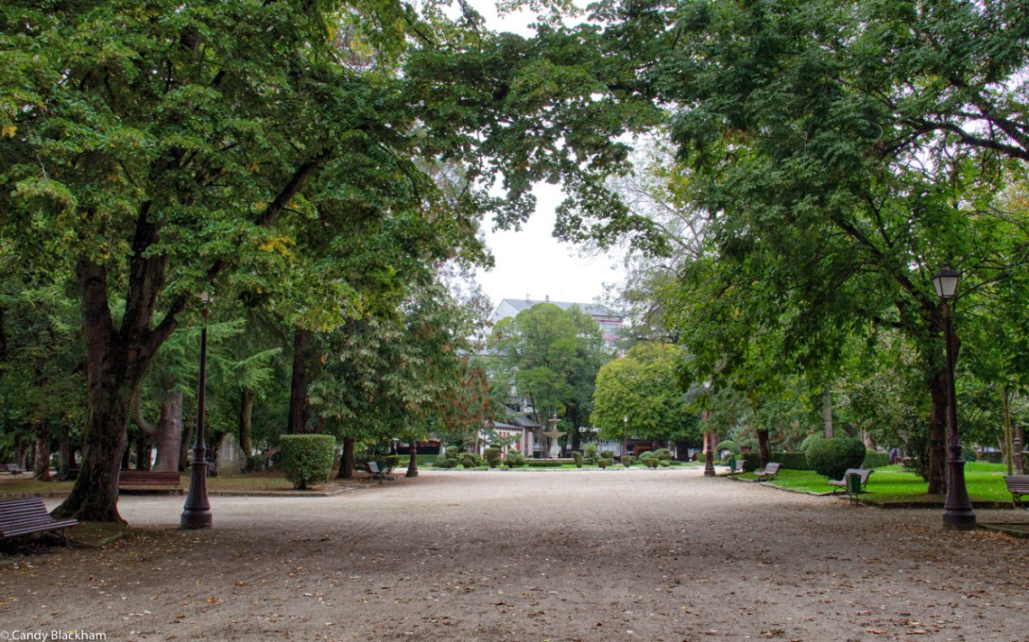 Rosalia Castro Park in Lugo