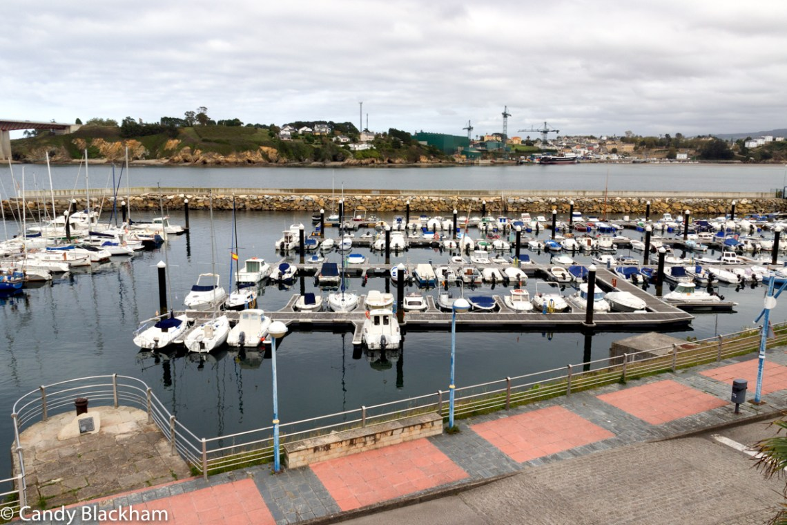 Marina in Ribadeo on the River Eo