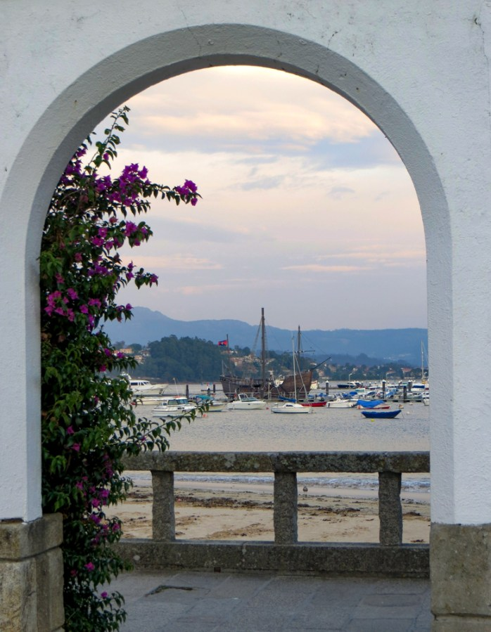 The marina at Baiona