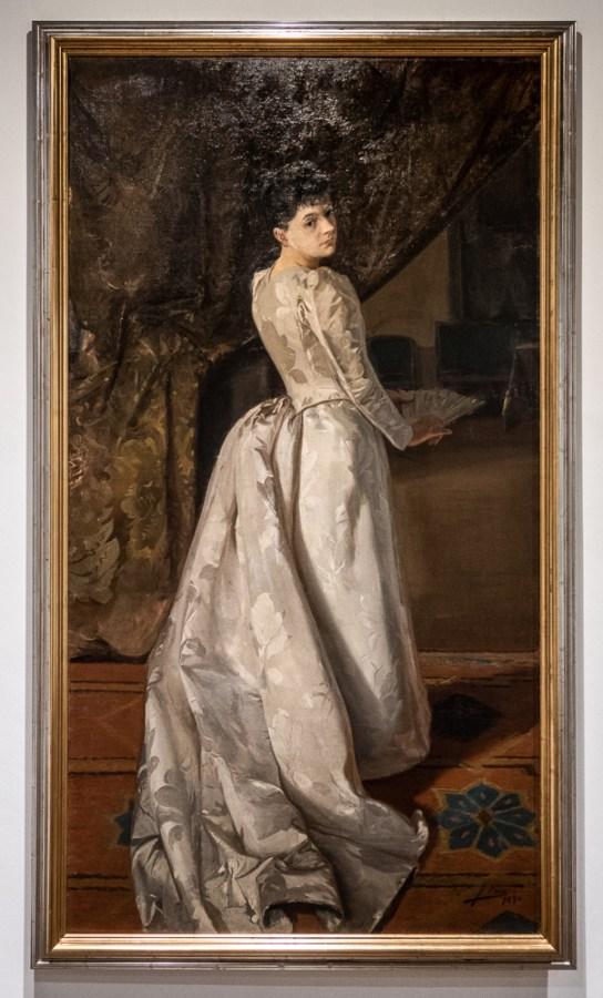 Amparo Ruiz Urguelles-Meres, by Jose Uria, 1890