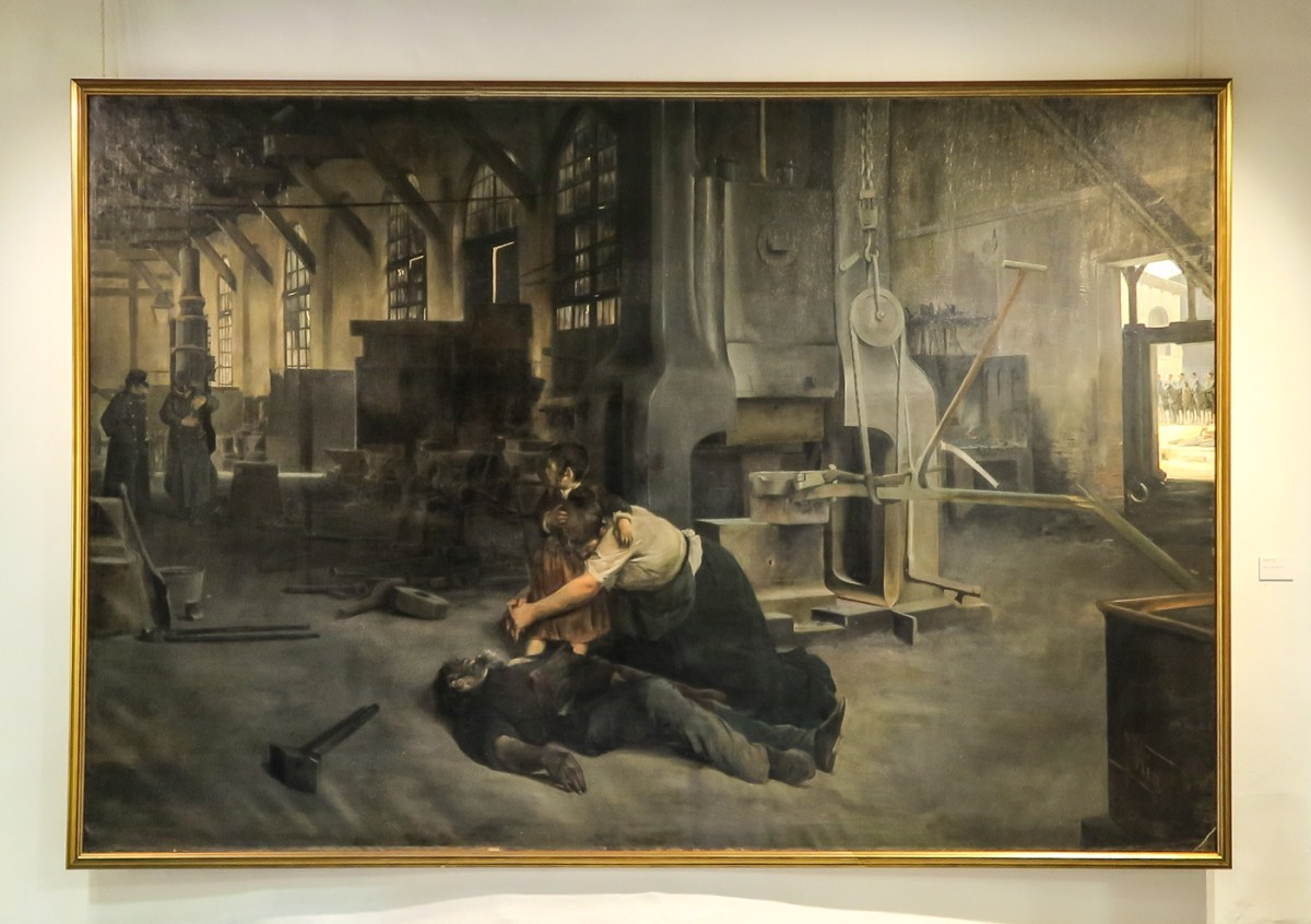 'After a Strike' by Jose Uria, 1895