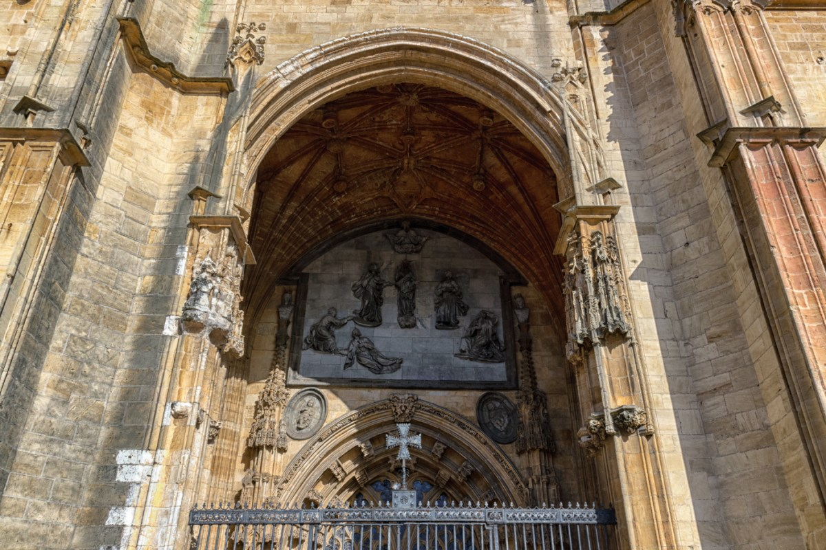 West door of the Cathedral of Oviedo
