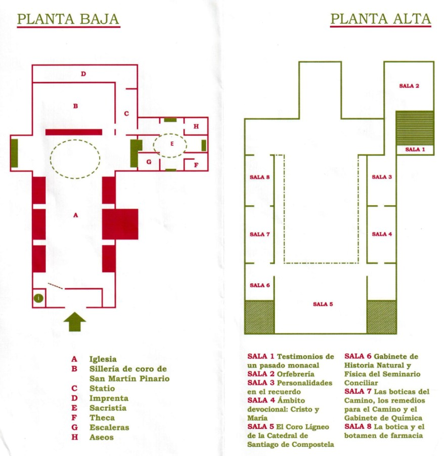 Layout of the Monastery of San Martin Pinario