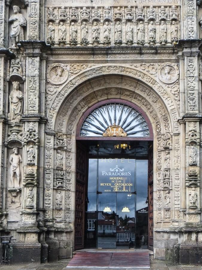 Entrance to the Parador in Santiago de Compostela