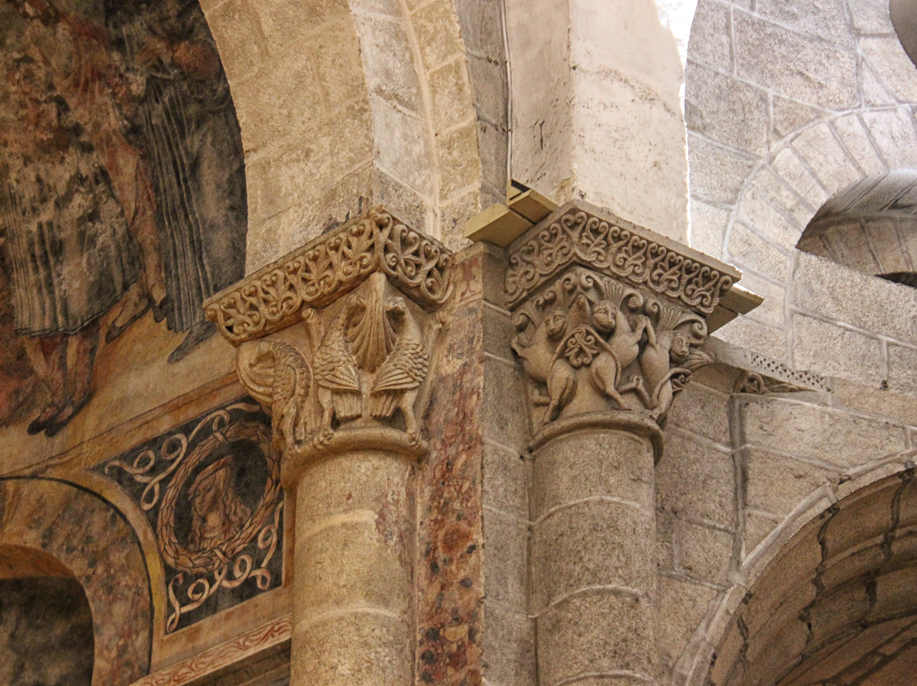 Capitals in the Cathedral of Santiago de Compostelo