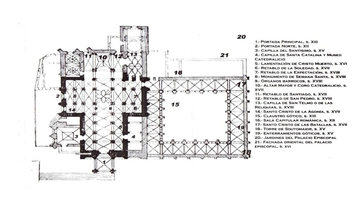 Plan of the Cathedral in Tui