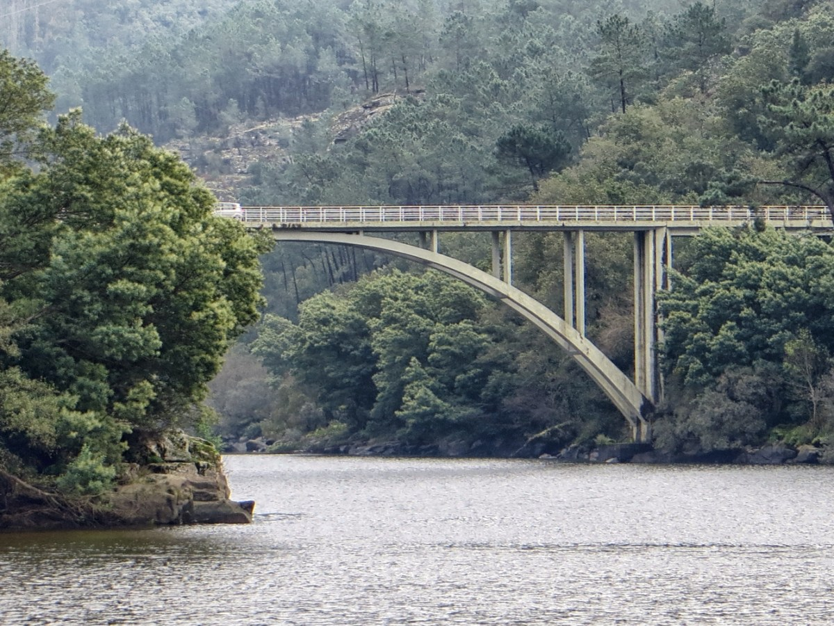 Bridge over the Mino River
