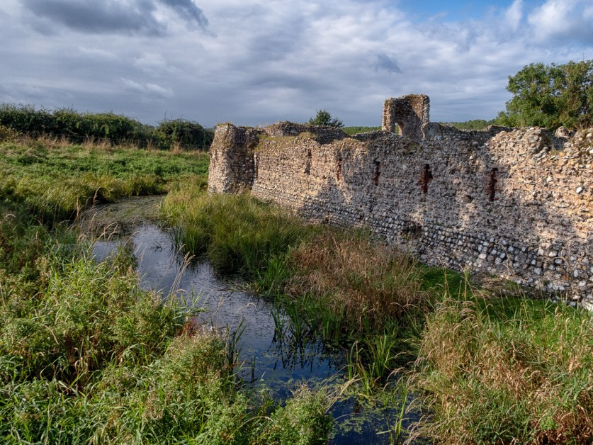The moat at Baconsthorpe Castle