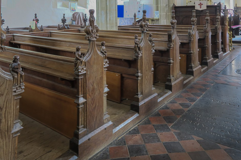 Bench ends in Forncett St Peter