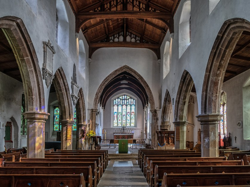 Inside St Andrew's Church in Holt in North Norfolk