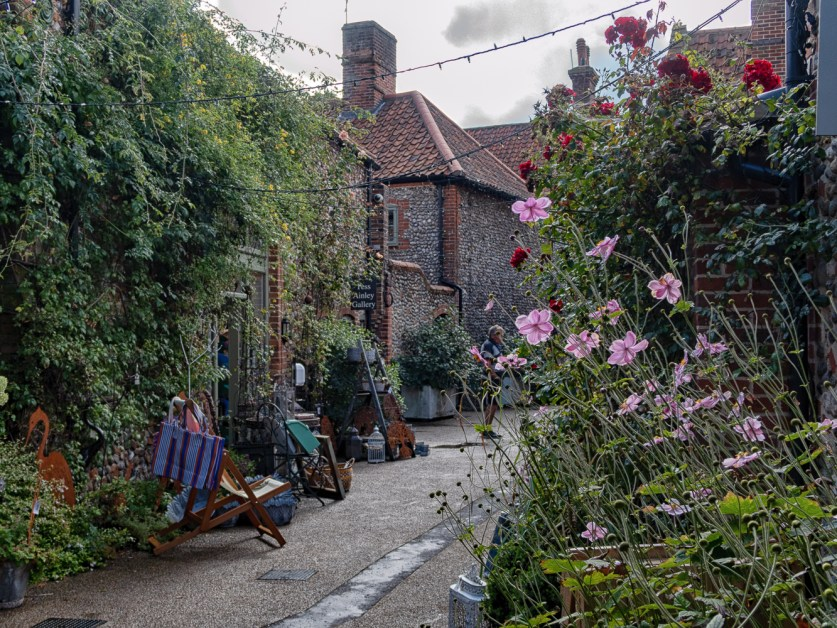 One of the yards in Holt in North Norfolk