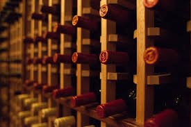Close up of a wine rack