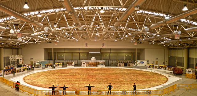 london world record largest pizza