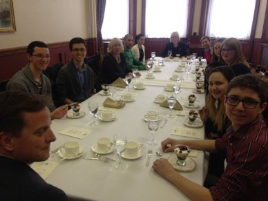 Lunch with London MPPs in the Speaker's apartment